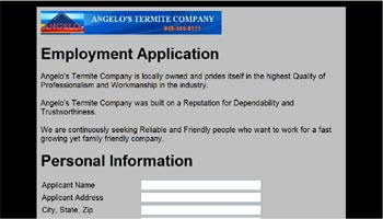Employment Online Application