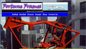 Custom Chopper Frames Website