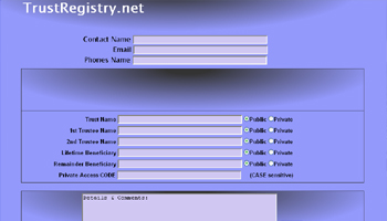 Trust Registry website